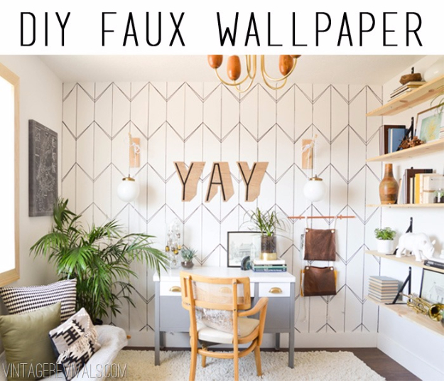DIY Ideas for Painting Walls - DIY Wallpaper With Sharpie - Cool Ways To Paint Walls - Techniques, Tips, Stencils, Tutorials, Fun Colors and Creative Designs for Living Room, Bedroom, Kids Room, Bathroom and Kitchen #homeimprovement #diydecor #roomideas #teenrooms #walldecor #paintingideas