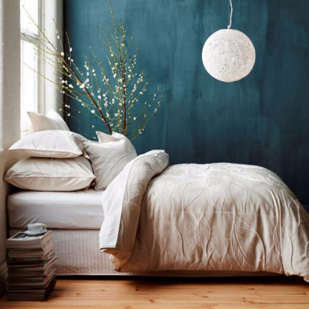 DIY Ideas for Painting Walls - Deep Teal Walls - Cool Ways To Paint Walls - Techniques, Tips, Stencils, Tutorials, Fun Colors and Creative Designs for Living Room, Bedroom, Kids Room, Bathroom and Kitchen #homeimprovement #diydecor #roomideas #teenrooms #walldecor #paintingideas