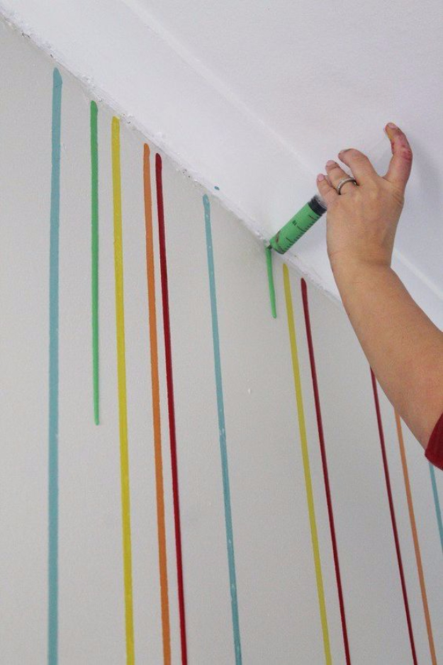 diy ideas for painting walls drippy wall cool ways to paint walls