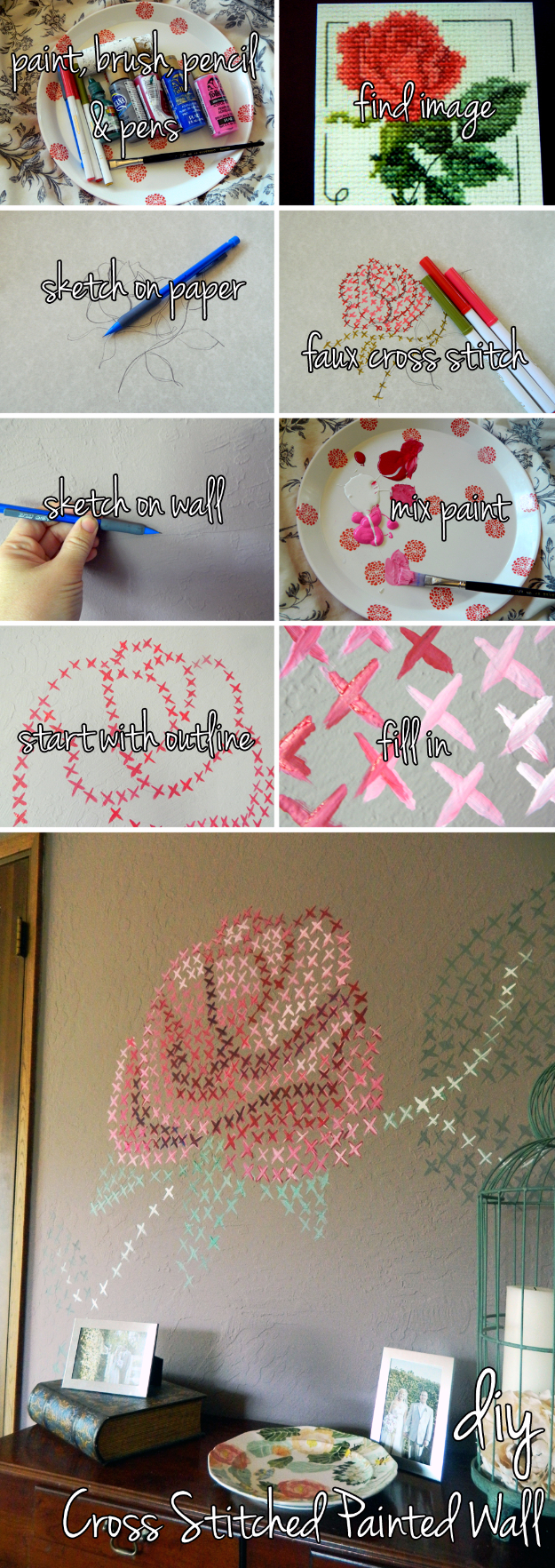 34 cool ways to paint walls diy projects for teens for Diy wall photo mural