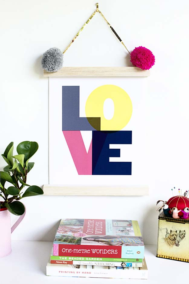 Best DIY Picture Frames and Photo Frame Ideas - 5 Minute Art Print Frame - How To Make Cool Handmade Projects from Wood, Canvas, Instagram Photos. Creative Birthday Gifts, Fun Crafts for Friends and Wall Art Tutorials #diyideas #diygifts #teencrafts