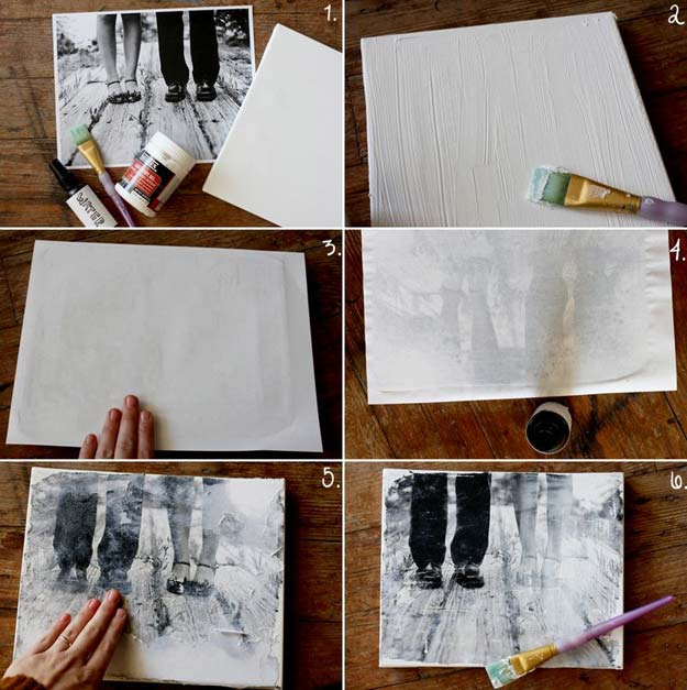 Cool DIY Photo Projects and Craft Ideas for Photos - Canvas Portrait - Easy Ideas for Wall Art, Collage and DIY Gifts for Friends. Wood, Cardboard, Canvas, Instagram Art and Frames. Creative Birthday Ideas and Home Decor for Adults, Teens and Tweens