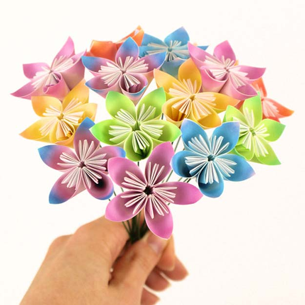 Best DIY Rainbow Crafts Ideas - Kusudama Flowers Tutorial - Fun DIY Projects With Rainbows Make Cool Room and Wall Decor, Party and Gift Ideas, Clothes, Jewelry and Hair Accessories - Awesome Ideas and Step by Step Tutorials for Teens and Adults, Girls and Tweens http://diyprojectsforteens.com/diy-projects-with-rainbows