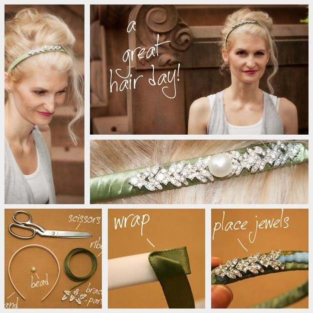 38 Creative DIY Hair Accessories - Headband - Create Pretty Hairstyles for Women, Teens and Girls with These Easy Tutorials - Vintage and Boho Looks for Prom and Wedding - Step by Step Instructions for Cool Headbands, Barettes, Pony Tail Holders, Hair Clips, Bobby Pins and Bows http://diyprojectsforteens.com/diy-hair-accessories