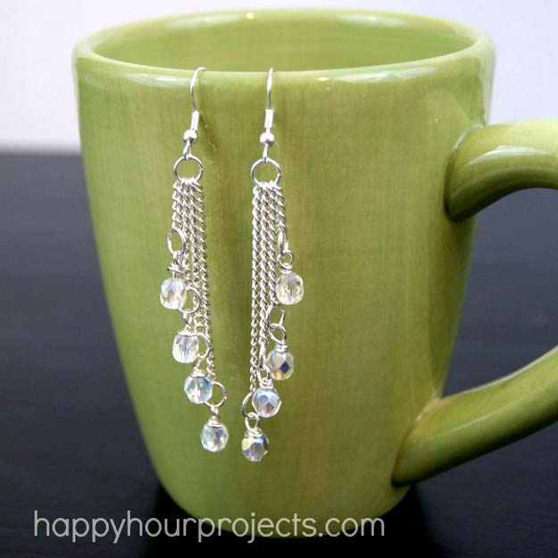 DIY Earrings and Homemade Jewelry Projects - Easy Cascade Dangle Earrings - Easy Studs, Ideas with Beads, Dangle Earring Tutorials, Wire, Feather, Simple Boho, Handmade Earring Cuff, Hoops and Cute Ideas for Teens and Adults http://diyprojectsforteens.com/diy-earrings