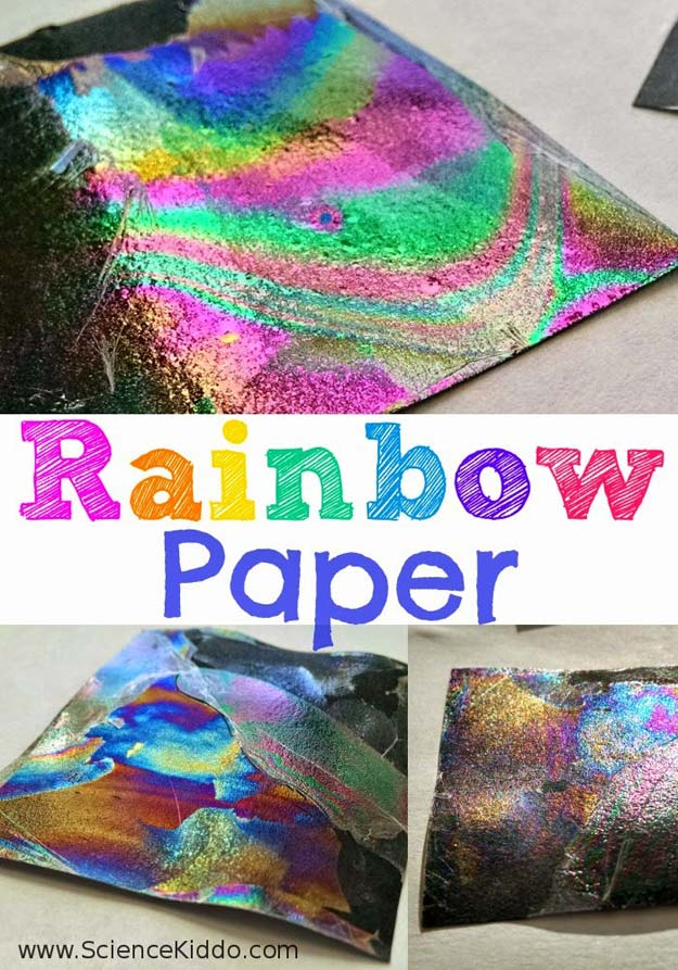 Best DIY Rainbow Crafts Ideas - Rainbow Paper - Fun DIY Projects With Rainbows Make Cool Room and Wall Decor, Party and Gift Ideas, Clothes, Jewelry and Hair Accessories - Awesome Ideas and Step by Step Tutorials for Teens and Adults, Girls and Tweens http://diyprojectsforteens.com/diy-projects-with-rainbows