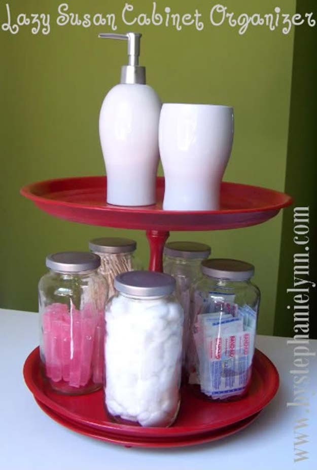 DIY Bathroom Decor Ideas for Teens - Rotating Organizer - Best Creative, Cool Bath Decorations and Accessories for Teenagers - Easy, Cheap, Cute and Quick Craft Projects That Are Fun To Make. Easy to Follow Step by Step Tutorials