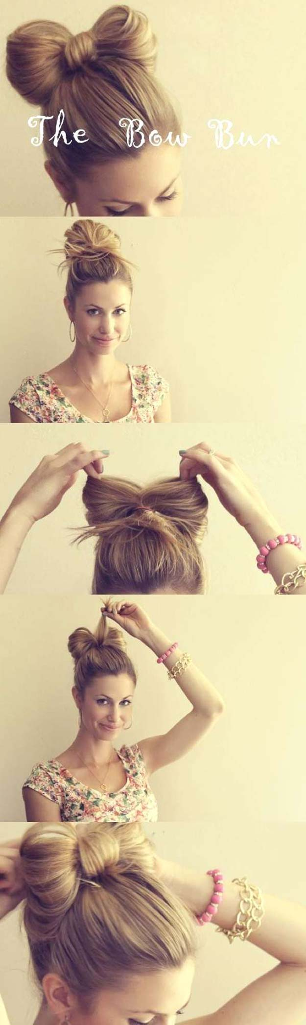 Cool and Easy DIY Hairstyles - The Hair Bow - Quick and Easy Ideas for Back to School Styles for Medium, Short and Long Hair - Fun Tips and Best Step by Step Tutorials for Teens, Prom, Weddings, Special Occasions and Work. Up dos, Braids, Top Knots and Buns, Super Summer Looks #hairstyles #hair #teens #easyhairstyles #diy #beauty
