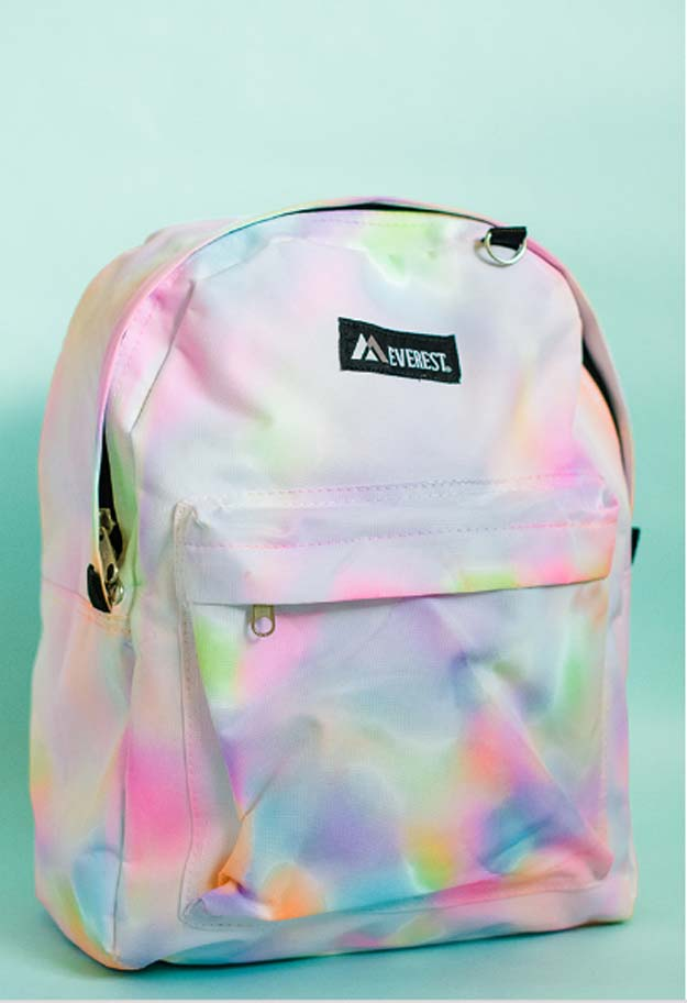 Best DIY Rainbow Crafts Ideas - Rainbow Watercolor Bagpack - Fun DIY Projects With Rainbows Make Cool Room and Wall Decor, Party and Gift Ideas, Clothes, Jewelry and Hair Accessories - Awesome Ideas and Step by Step Tutorials for Teens and Adults, Girls and Tweens http://diyprojectsforteens.com/diy-projects-with-rainbows