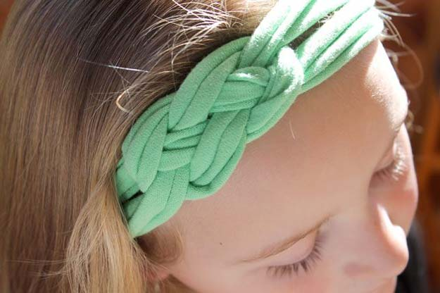 38 Creative DIY Hair Accessories - Headbands Out Of Shirts - Create Pretty Hairstyles for Women, Teens and Girls with These Easy Tutorials - Vintage and Boho Looks for Prom and Wedding - Step by Step Instructions for Cool Headbands, Barettes, Pony Tail Holders, Hair Clips, Bobby Pins and Bows