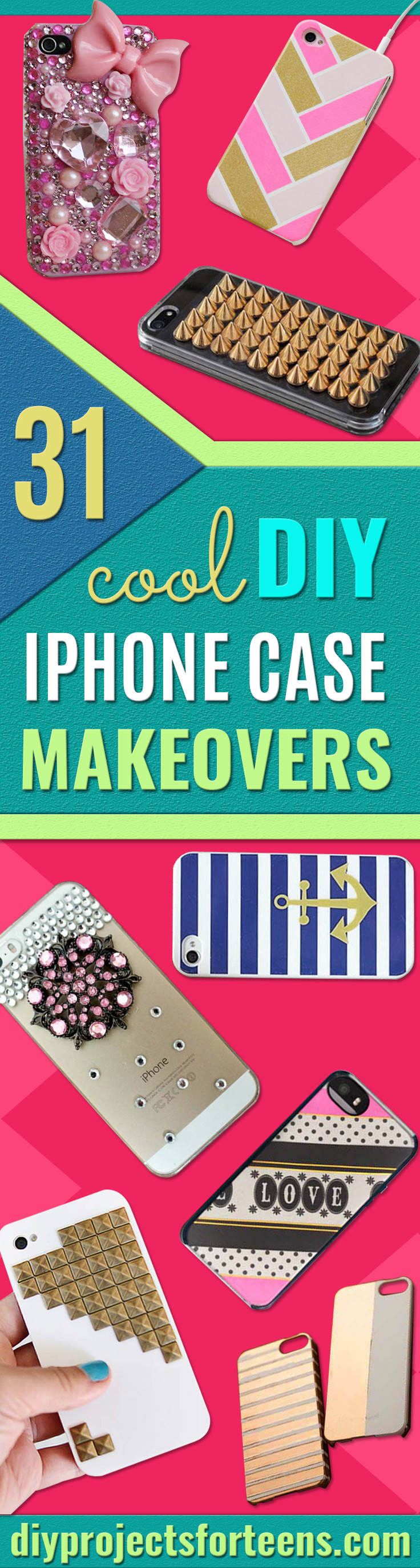 DIY iPhone Case Makeovers  - Easy DIY Projects and Handmade Crafts Tutorial Ideas You Can Make To Decorate Your Phone With Glitter, Nail Polish, Sharpie, Paint, Bling, Printables and Sewing Patterns - Fun DIY Ideas for Women, Teens, Tweens and Kids