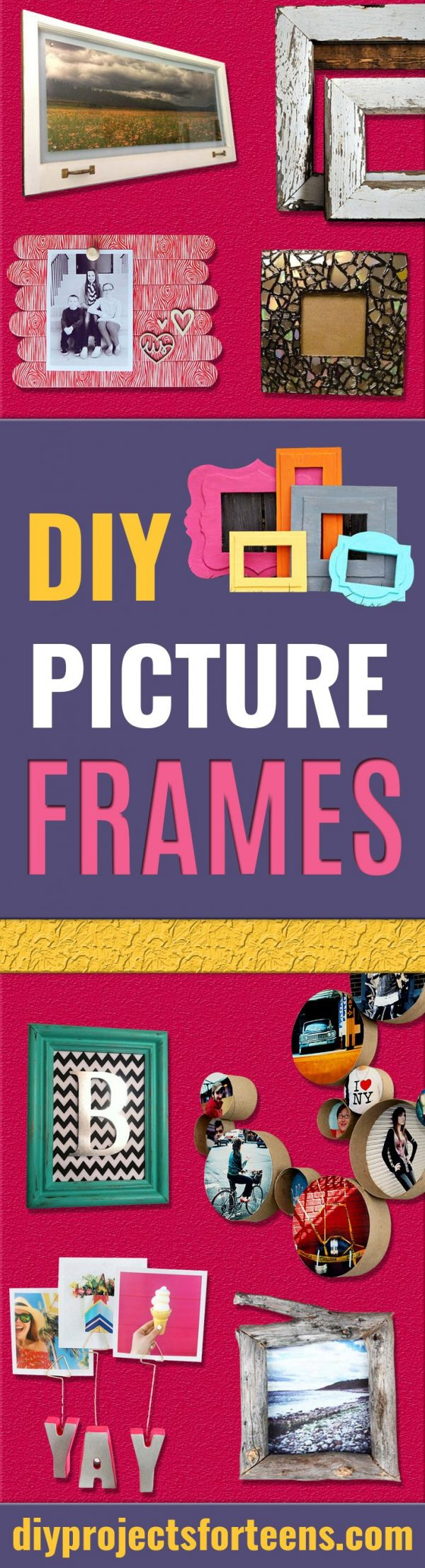 Best DIY Picture Frames and Photo Frame Ideas - How To Make Cool Handmade Projects from Wood, Canvas, Instagram Photos. Creative Birthday Gifts, Fun Crafts for Friends and Wall Art Tutorials #diyideas #diygifts #teencrafts