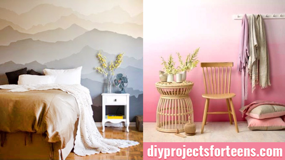 DIY Ideas for Painting Walls - DIY Room Decorating Ideas for Teens, Adults, Tweens and Kids Room - Easy Room Painting Idea Step by Step - Paint Colors for Walls in Bedroom