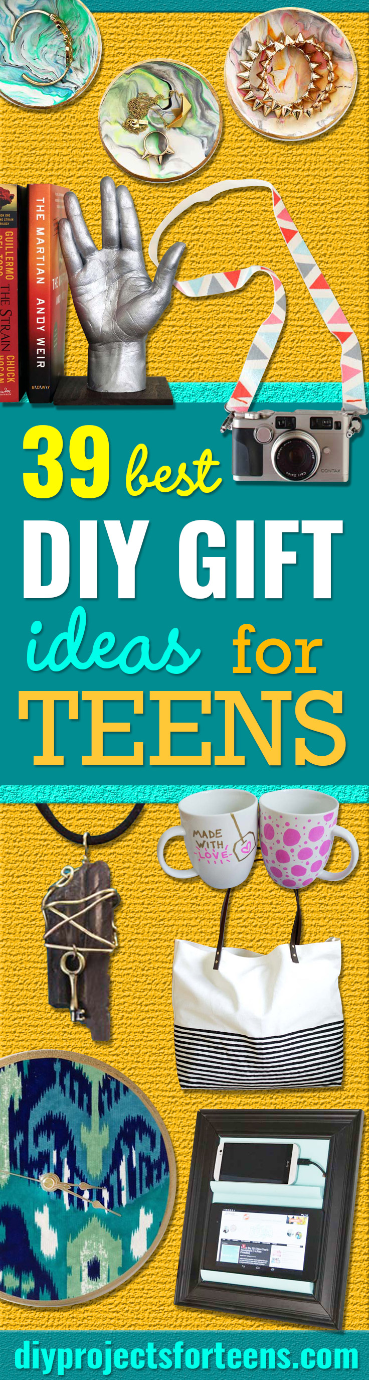 DIY Gifts for Teens - Cool Ideas for Girls and Boys, Friends and Gift Ideas for Teenagers. Creative Room Decor, Fun Wall Art and Awesome Crafts You Can Make for Presents http://diyprojectsforteens.com/diy-gifts-for-teens