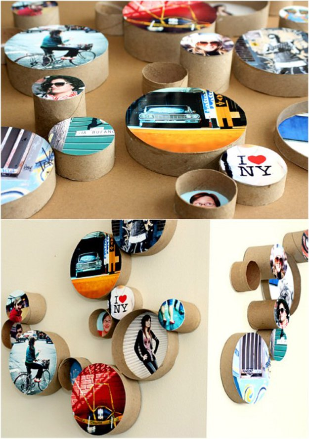 Best DIY Picture Frames and Photo Frame Ideas - DIY Cardboard Ring Picture Frames - How To Make Cool Handmade Projects from Wood, Canvas, Instagram Photos. Creative Birthday Gifts, Fun Crafts for Friends and Wall Art Tutorials #diyideas #diygifts #teencrafts