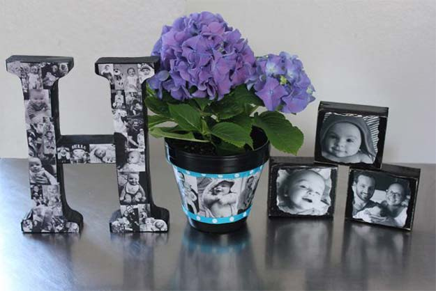 Cool DIY Photo Projects and Craft Ideas for Photos - Personalized Photo - Easy Ideas for Wall Art, Collage and DIY Gifts for Friends. Wood, Cardboard, Canvas, Instagram Art and Frames. Creative Birthday Ideas and Home Decor for Adults, Teens and Tweens