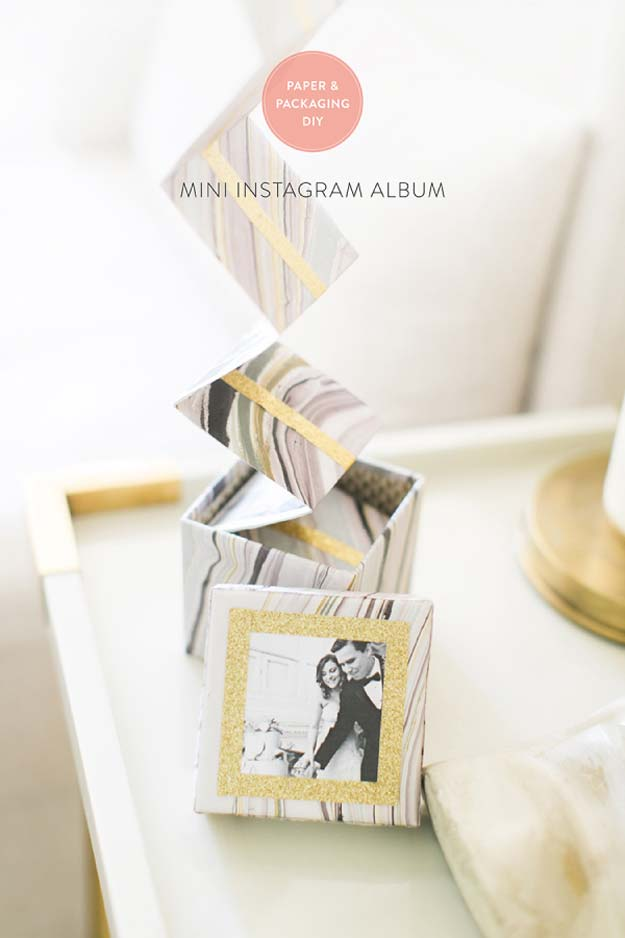 Cool DIY Photo Projects and Craft Ideas for Photos - Mini Instagram Album - Easy Ideas for Wall Art, Collage and DIY Gifts for Friends. Wood, Cardboard, Canvas, Instagram Art and Frames. Creative Birthday Ideas and Home Decor for Adults, Teens and Tweens
