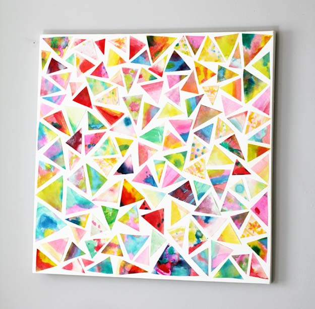 Best DIY Rainbow Crafts Ideas - Rainbow Abstract Art - Fun DIY Projects With Rainbows Make Cool Room and Wall Decor, Party and Gift Ideas, Clothes, Jewelry and Hair Accessories - Awesome Ideas and Step by Step Tutorials for Teens and Adults, Girls and Tweens http://diyprojectsforteens.com/diy-projects-with-rainbows
