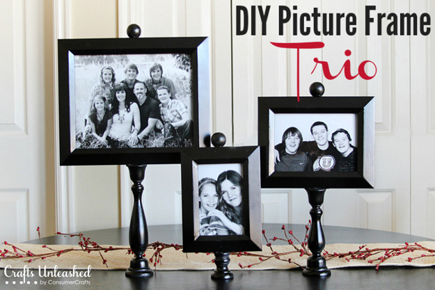 Best DIY Picture Frames and Photo Frame Ideas - Picture Frame Trio - How To Make Cool Handmade Projects from Wood, Canvas, Instagram Photos. Creative Birthday Gifts, Fun Crafts for Friends and Wall Art Tutorials #diyideas #diygifts #teencrafts