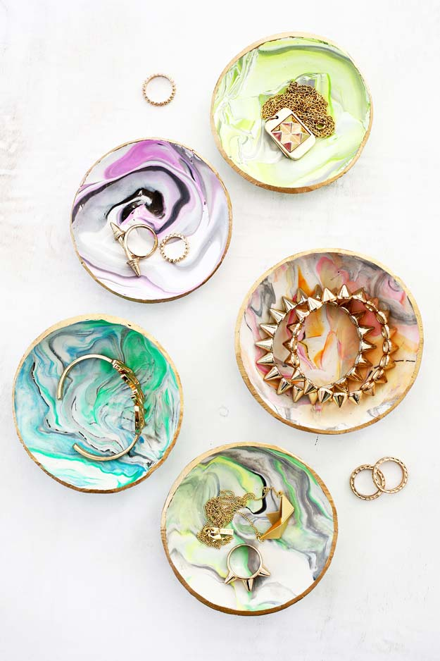 DIY Gifts for Teens - Marbled Clay Rings - Cool Ideas for Girls and Boys, Friends and Gift Ideas for Teenagers. Creative Room Decor, Fun Wall Art and Awesome Crafts You Can Make for Presents #teengifts #teencrafts