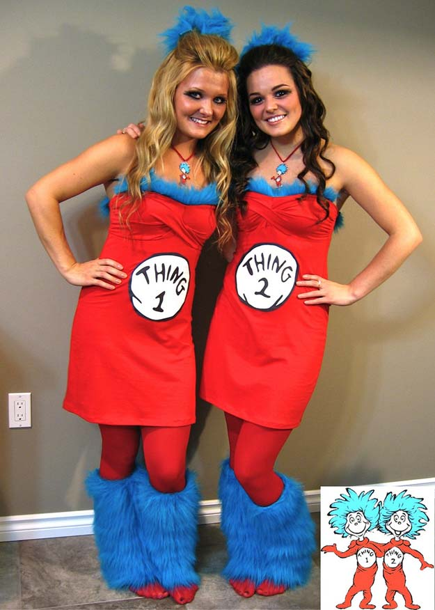 Best Last Minute DIY Halloween Costume Ideas - Thing 1 & Thing 2 Costume - Do It Yourself Costumes for Teens, Teenagers, Tweens, Teenage Boys and Girls, Friends. Fun, Clever, Cheap and Creative Costumes that Are Easy To Make. Step by Step Tutorials and Instructions #halloween #costumeideas #halloweencostumes