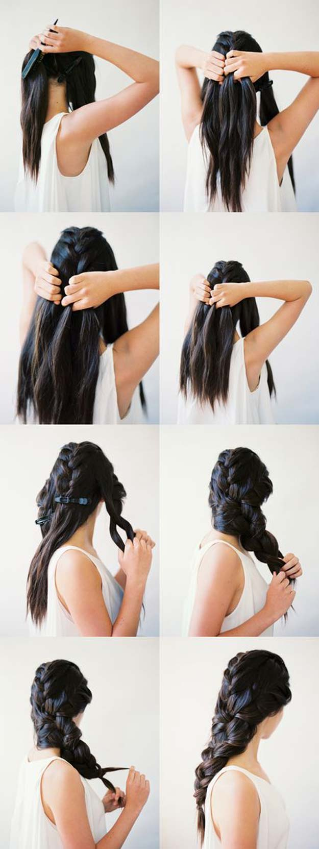 Cool and Easy DIY Hairstyles - Stylish Braids - Quick and Easy Ideas for Back to School Styles for Medium, Short and Long Hair - Fun Tips and Best Step by Step Tutorials for Teens, Prom, Weddings, Special Occasions and Work. Up dos, Braids, Top Knots and Buns, Super Summer Looks #hairstyles #hair #teens #easyhairstyles #diy #beauty