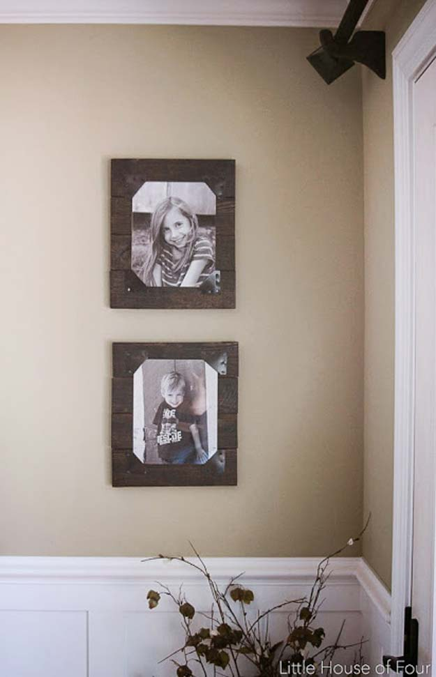 Best DIY Picture Frames and Photo Frame Ideas -Rustic Pallet Frames - How To Make Cool Handmade Projects from Wood, Canvas, Instagram Photos. Creative Birthday Gifts, Fun Crafts for Friends and Wall Art Tutorials http://diyprojectsforteens.com/diy-picture-frames