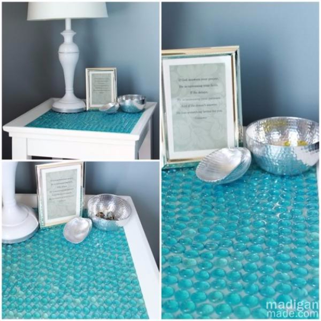 Superbe Cool Turquoise Room Decor Ideas   DIY Tiled Table   Fun Aqua Decorating  Looks And Color
