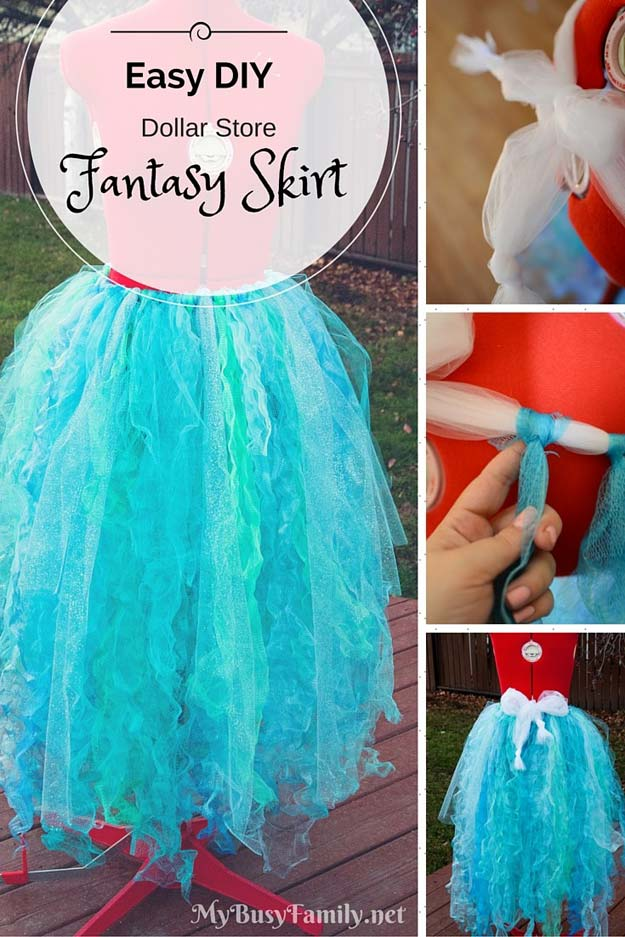 Best Last Minute DIY Halloween Costume Ideas - Fantasy Skirt - Do It Yourself Costumes for Teens, Teenagers, Tweens, Teenage Boys and Girls, Friends. Fun, Clever, Cheap and Creative Costumes that Are Easy To Make. Step by Step Tutorials and Instructions #halloween #costumeideas #halloweencostumes