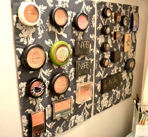 DIY Bathroom Decor Ideas for Teens - Makeup Storage- Best Creative, Cool Bath Decorations and Accessories for Teenagers - Easy, Cheap, Cute and Quick Craft Projects That Are Fun To Make. Easy to Follow Step by Step Tutorials