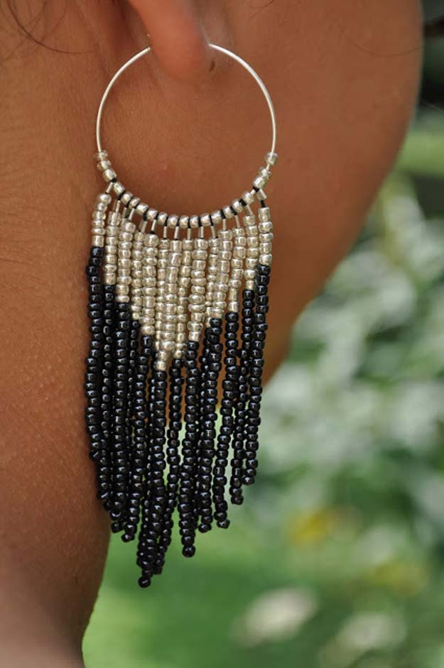 DIY Earrings and Homemade Jewelry Projects - Reminiscent of a Dreamcatcher - Easy Studs, Ideas with Beads, Dangle Earring Tutorials, Wire, Feather, Simple Boho, Handmade Earring Cuff, Hoops and Cute Ideas for Teens and Adults http://diyprojectsforteens.com/diy-earrings