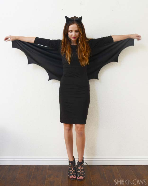 Best Last Minute DIY Halloween Costume Ideas - Bat Halloween Costume - Do It Yourself Costumes for Teens, Teenagers, Tweens, Teenage Boys and Girls, Friends. Fun, Clever, Cheap and Creative Costumes that Are Easy To Make. Step by Step Tutorials and Instructions #halloween #costumeideas #halloweencostumes