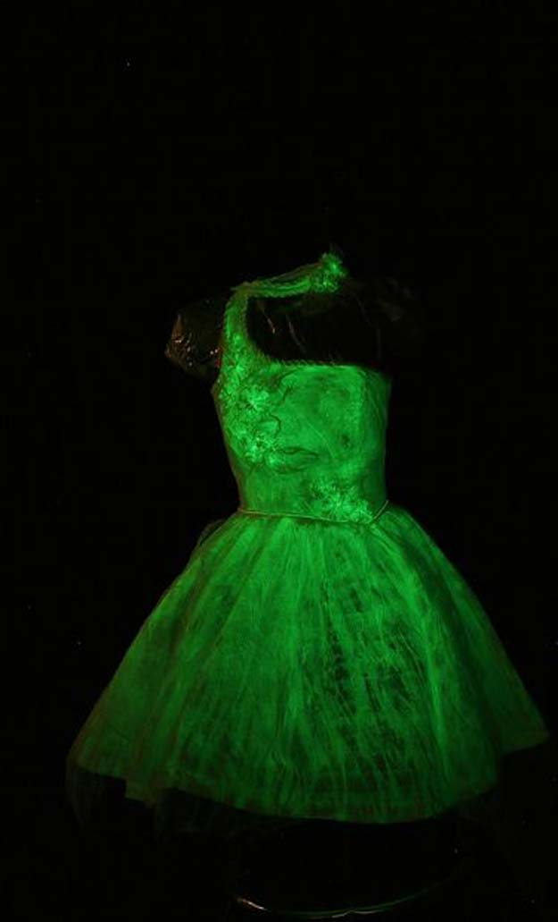 Best Last Minute DIY Halloween Costume Ideas - Glowing Gown - Do It Yourself Costumes for Teens, Teenagers, Tweens, Teenage Boys and Girls, Friends. Fun, Clever, Cheap and Creative Costumes that Are Easy To Make. Step by Step Tutorials and Instructions http://diyprojectsforteens.com/last-minute-diy-halloween-costumes