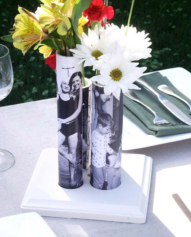 Cool DIY Photo Projects and Craft Ideas for Photos - Photo Vase - Easy Ideas for Wall Art, Collage and DIY Gifts for Friends. Wood, Cardboard, Canvas, Instagram Art and Frames. Creative Birthday Ideas and Home Decor for Adults, Teens and Tweens