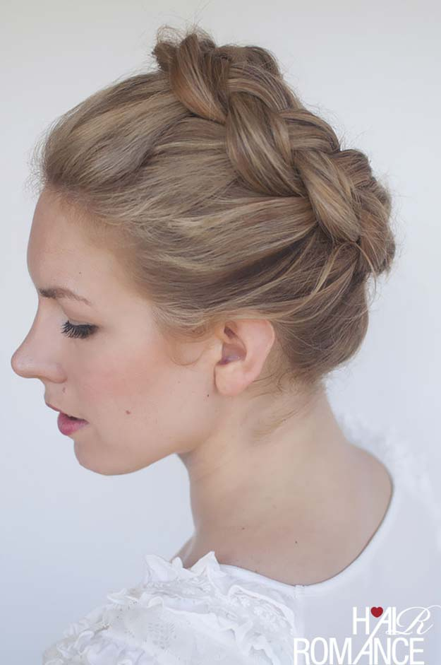 Cool and Easy DIY Hairstyles - High Braided Hairstyle - Quick and Easy Ideas for Back to School Styles for Medium, Short and Long Hair - Fun Tips and Best Step by Step Tutorials for Teens, Prom, Weddings, Special Occasions and Work. Up dos, Braids, Top Knots and Buns, Super Summer Looks #hairstyles #hair #teens #easyhairstyles #diy #beauty
