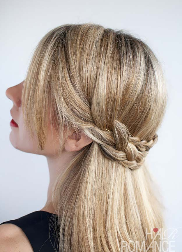 Cool and Easy DIY Hairstyles - Half Crown Braid - Quick and Easy Ideas for Back to School Styles for Medium, Short and Long Hair - Fun Tips and Best Step by Step Tutorials for Teens, Prom, Weddings, Special Occasions and Work. Up dos, Braids, Top Knots and Buns, Super Summer Looks #hairstyles #hair #teens #easyhairstyles #diy #beauty