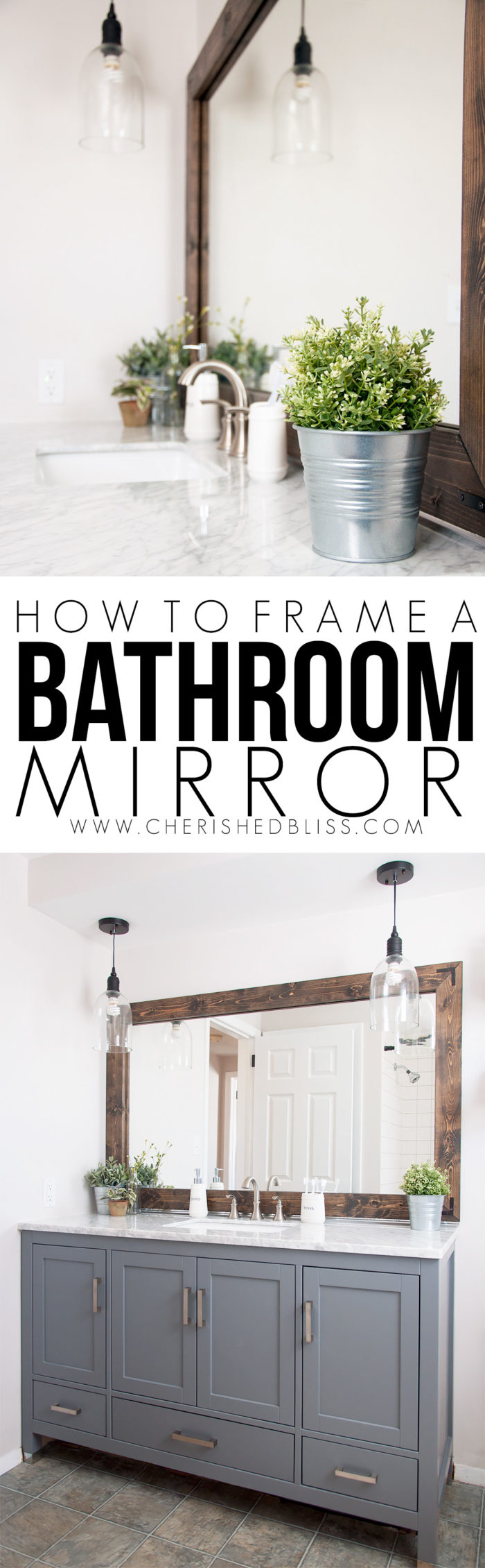 How To Frame A Bathroom Mirror 700×2260