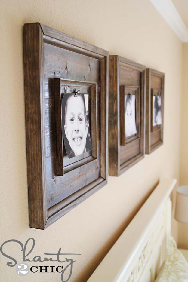 Best DIY Picture Frames and Photo Frame Ideas - Wooden Frames - How To Make Cool Handmade Projects from Wood, Canvas, Instagram Photos. Creative Birthday Gifts, Fun Crafts for Friends and Wall Art Tutorials http://diyprojectsforteens.com/diy-picture-frames