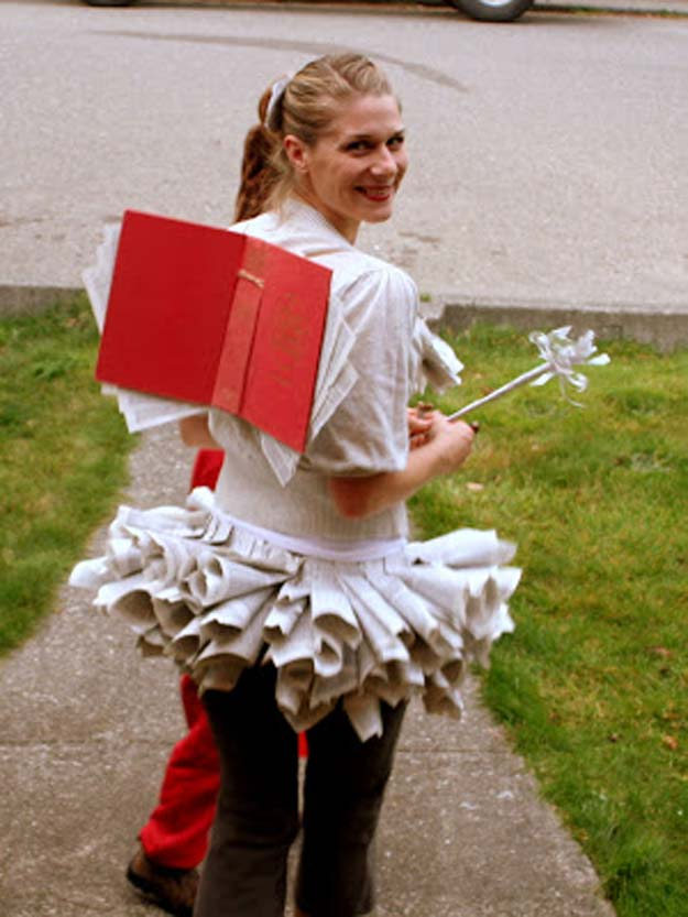 Best Last Minute DIY Halloween Costume Ideas - Book Fairy Costume - Do It Yourself Costumes for Teens, Teenagers, Tweens, Teenage Boys and Girls, Friends. Fun, Clever, Cheap and Creative Costumes that Are Easy To Make. Step by Step Tutorials and Instructions http://diyprojectsforteens.com/last-minute-diy-halloween-costumes