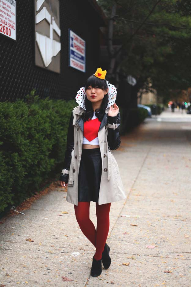 41 super creative diy halloween costumes for teens best last minute diy halloween costume ideas queen of hearts do it yourself costumes solutioingenieria Image collections
