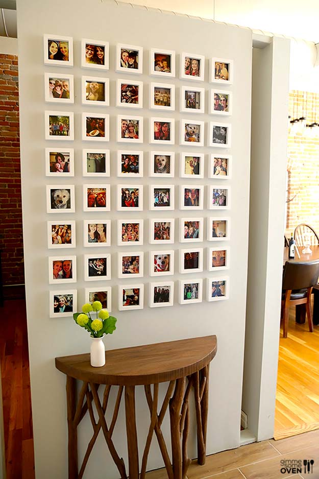 Cool DIY Photo Projects and Craft Ideas for Photos - Instagram Wall - Easy Ideas for Wall Art, Collage and DIY Gifts for Friends. Wood, Cardboard, Canvas, Instagram Art and Frames. Creative Birthday Ideas and Home Decor for Adults, Teens and Tweens