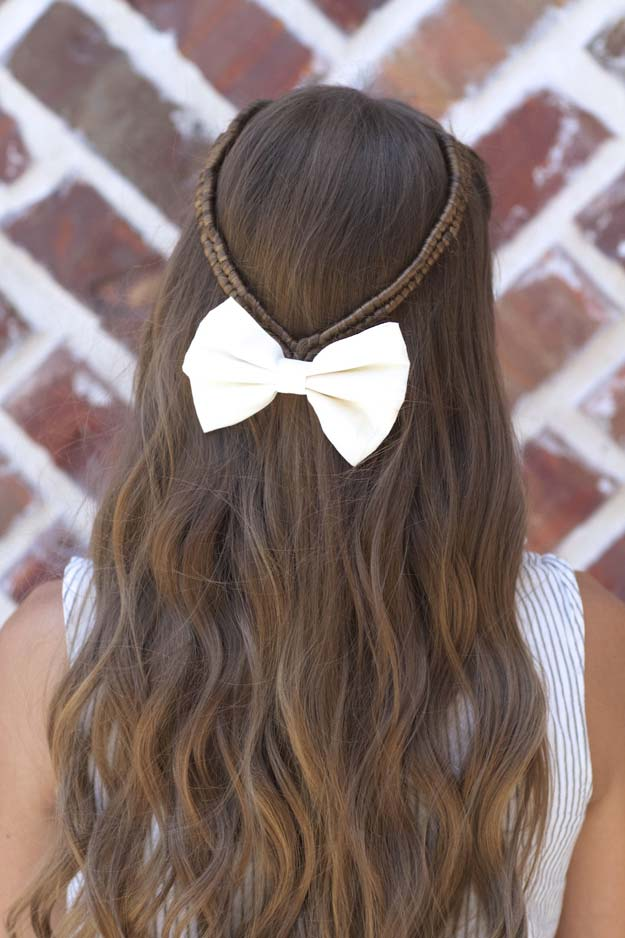 Cool and Easy DIY Hairstyles - Infinity Braid Tieback - Quick and Easy Ideas for Back to School Styles for Medium, Short and Long Hair - Fun Tips and Best Step by Step Tutorials for Teens, Prom, Weddings, Special Occasions and Work. Up dos, Braids, Top Knots and Buns, Super Summer Looks #hairstyles #hair #teens #easyhairstyles #diy #beauty