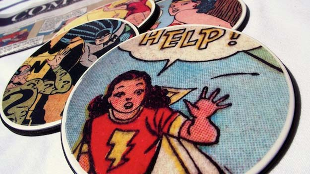 DIY Gifts for Teens - Comic Book Coasters - Cool Ideas for Girls and Boys, Friends and Gift Ideas for Teenagers. Creative Room Decor, Fun Wall Art and Awesome Crafts You Can Make for Presents #teengifts #teencrafts
