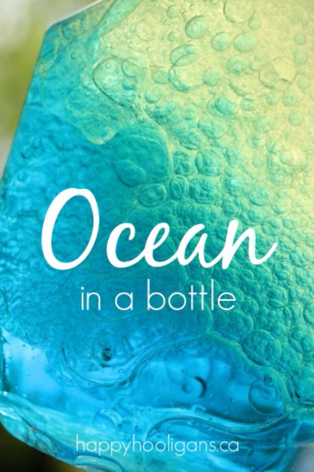 Cool Turquoise Room Decor Ideas - Ocean In A Bottle - Fun Aqua Decorating Looks and Color for Teen Bedroom, Bathroom, Accent Walls and Home Decor - Fun Crafts and Wall Art for Your Room