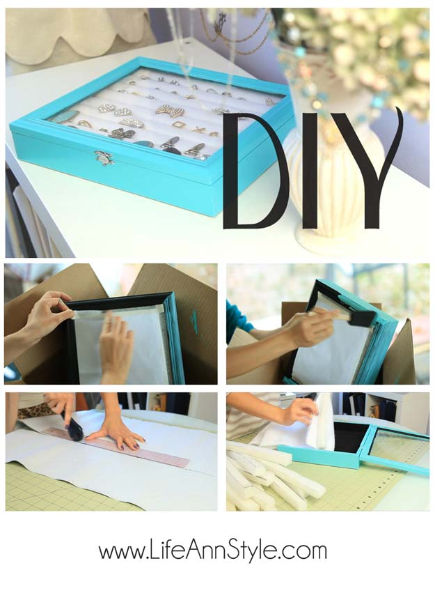 DIY Gifts for Teens - Tiffany & Co inspired Jewelry Box - Cool Ideas for Girls and Boys, Friends and Gift Ideas for Teenagers. Creative Room Decor, Fun Wall Art and Awesome Crafts You Can Make for Presents #teengifts #teencrafts