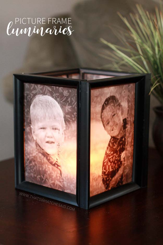 Cool DIY Photo Projects and Craft Ideas for Photos - Frame Luminaries - Easy Ideas for Wall Art, Collage and DIY Gifts for Friends. Wood, Cardboard, Canvas, Instagram Art and Frames. Creative Birthday Ideas and Home Decor for Adults, Teens and Tweens