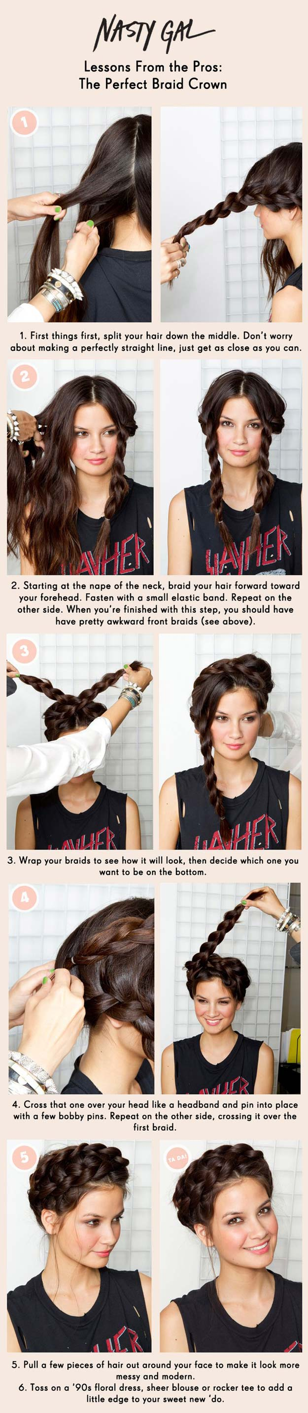 Cool and Easy DIY Hairstyles - Braid Crown - Quick and Easy Ideas for Back to School Styles for Medium, Short and Long Hair - Fun Tips and Best Step by Step Tutorials for Teens, Prom, Weddings, Special Occasions and Work. Up dos, Braids, Top Knots and Buns, Super Summer Looks #hairstyles #hair #teens #easyhairstyles #diy #beauty