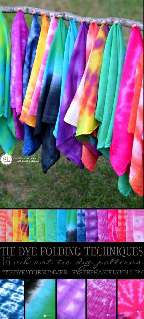 b9092e83cbb0c0 DIY Tie Dye Projects and Crafts - Tie Dye Folding Techniques - Cool Tie Dye  Ideas