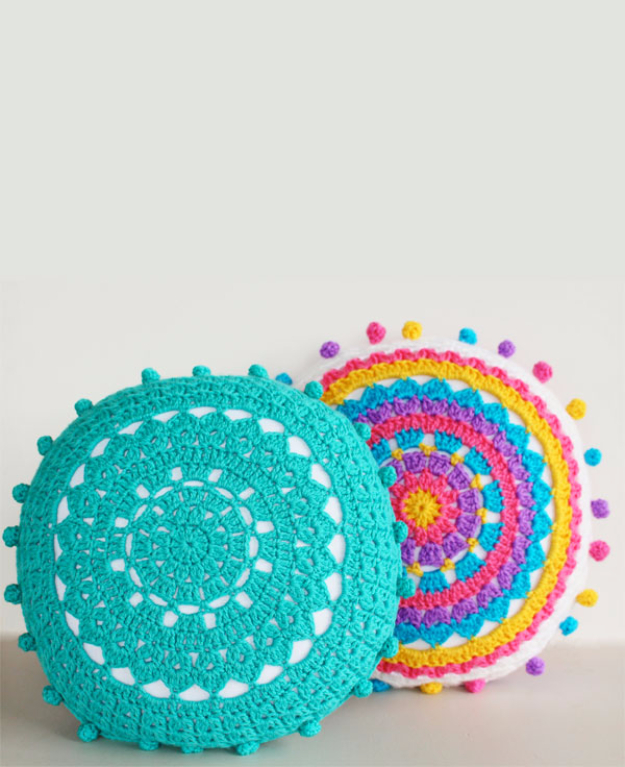 Cool Turquoise Room Decor Ideas - Turquoise Carnivale Cushion - Fun Aqua Decorating Looks and Color for Teen Bedroom, Bathroom, Accent Walls and Home Decor - Fun Crafts and Wall Art for Your Room