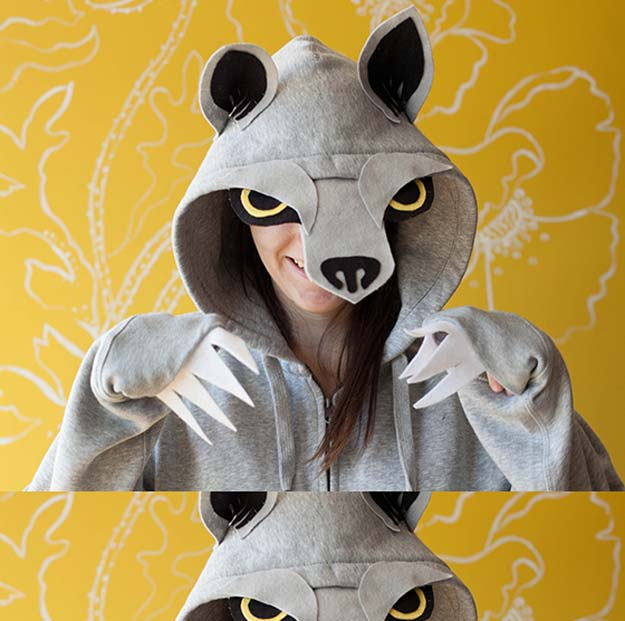Best Last Minute DIY Halloween Costume Ideas - Wolf Costume - Do It Yourself Costumes for Teens, Teenagers, Tweens, Teenage Boys and Girls, Friends. Fun, Clever, Cheap and Creative Costumes that Are Easy To Make. Step by Step Tutorials and Instructions http://diyprojectsforteens.com/last-minute-diy-halloween-costumes